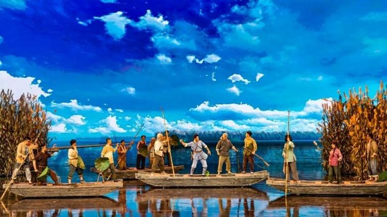 6月28日大型民族歌剧《雁翎队》在省艺术中心上演