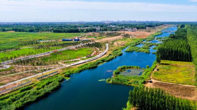雄安新区环起步区生态防洪工程建设稳步推进