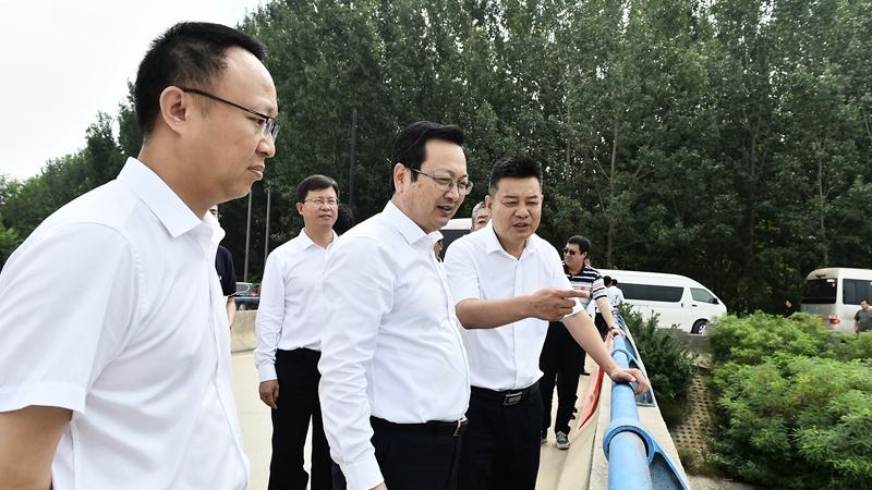 张国华一行实地调研检查新区防洪备汛相关情况