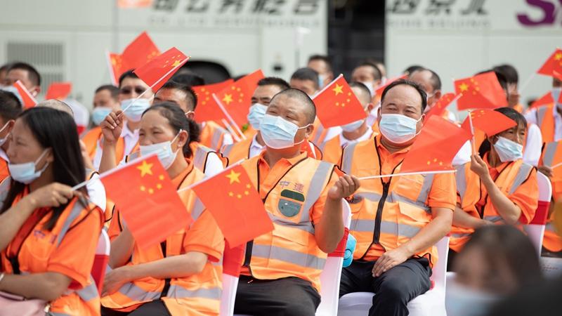 中华全国总工会文工团演出进中建一局雄安总部