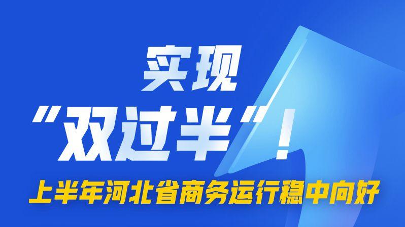 """图解丨实现""""双过半""""!上半年河北省商务运行稳中向好"""