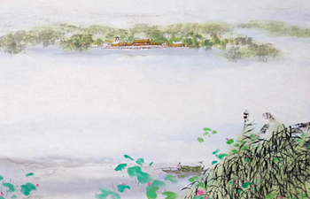 Baiyangdian depicted in long scroll painting