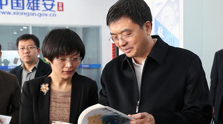 陈刚到中国雄安官网看望慰问一线采编人员