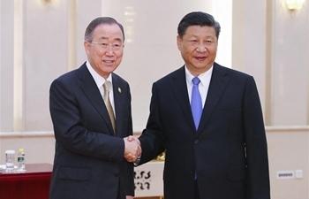 Chinese president meets BFA Chairman Ban Ki-moon
