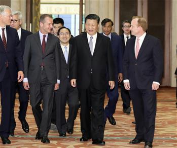 Xi meets executives of famous multinational companies