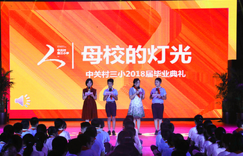 Students from Xiongan New Area campus attend graduation ceremony in Beijing