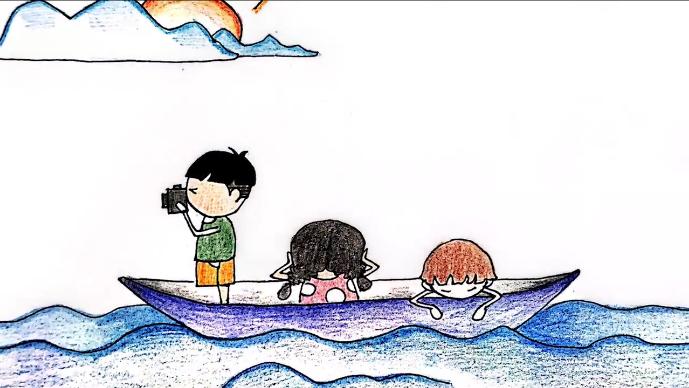 萌萌哒的防溺水手绘来啦