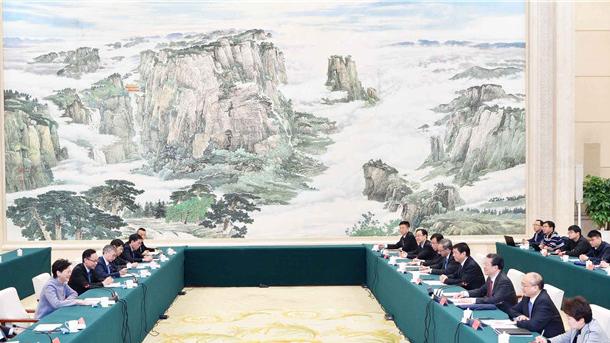 王东峰会见香港特别行政区行政长官林郑月娥一行