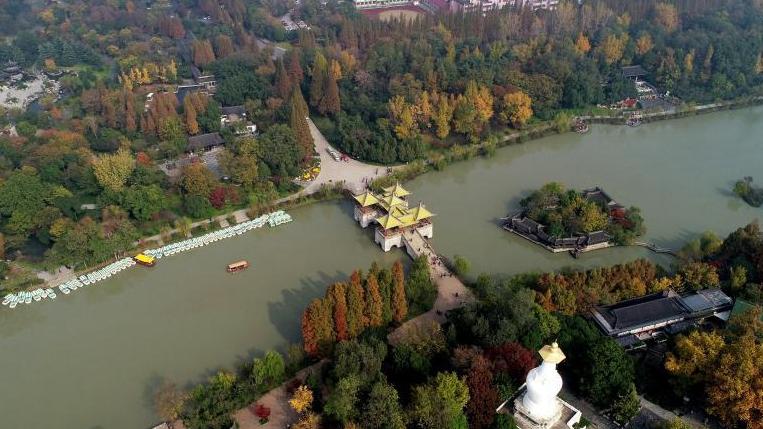 航拍初冬扬州 古城美如画卷
